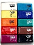 Amazon: Fimo Soft Clay 10 Color Assortment 25 g blocks assorted colors box of 10