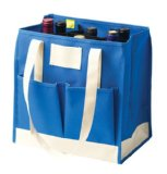 Repurpose wine bottle tote as a snack caddy