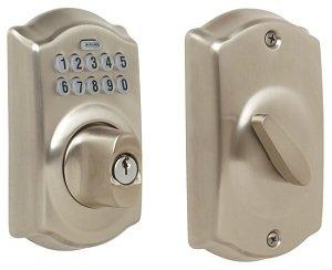At Amazon: Schlage Camelot Keypad Entry Deadbolt Lock