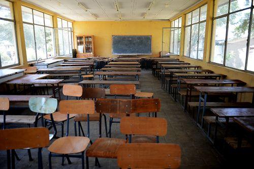 A classroom in a Mojo high school