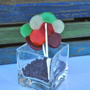 Valentine treat: Lifesaver Flower Pops