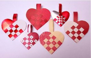 Easy Valentine crafts: Swedish hearts, bottlecap magnets, toddler-friendly mosaic cards