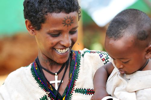 Ethiopian mother and child
