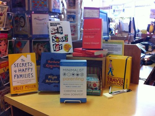 Minimalist Parenting on display at A Children's Place Bookstore in Portland, OR