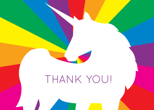 MAGICAL UNICORN OF THANKS