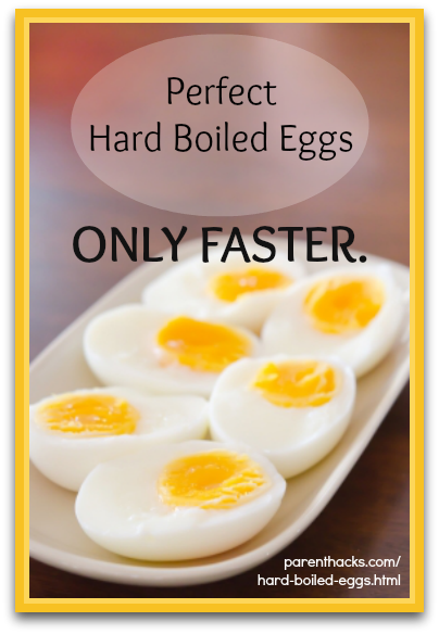 Perfect hard boiled eggs, only faster