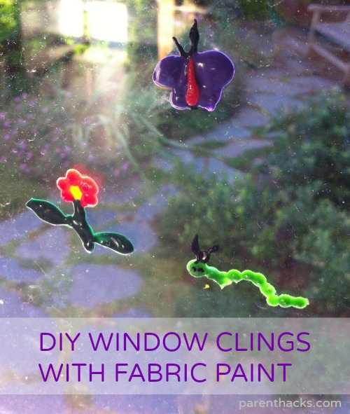 DIY Window Clings with Fabric Paint