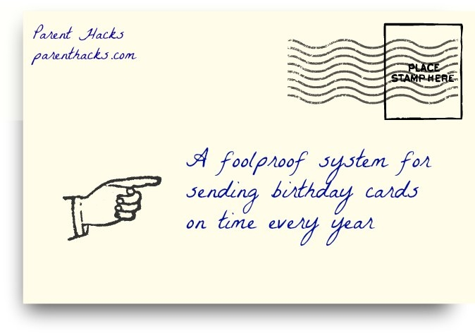 A foolproof system for sending birthday cards on time every year – Emailing Birthday Cards