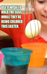 Dip Easter Eggs Into Dye Using a Whisk