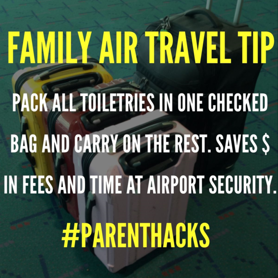 This family air travel tip simplifies packing while saving $ on checked baggage fees. #parenthacks
