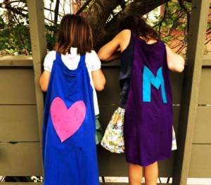 Turn a t-shirt into a no-sew superhero cape