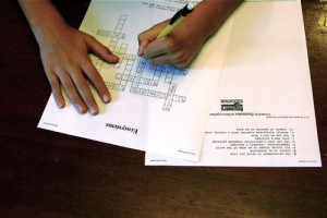 Print homemade crossword puzzles to help with test review